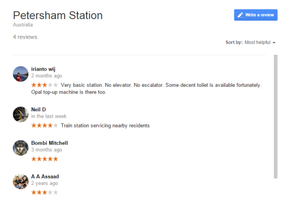 Petersham station review